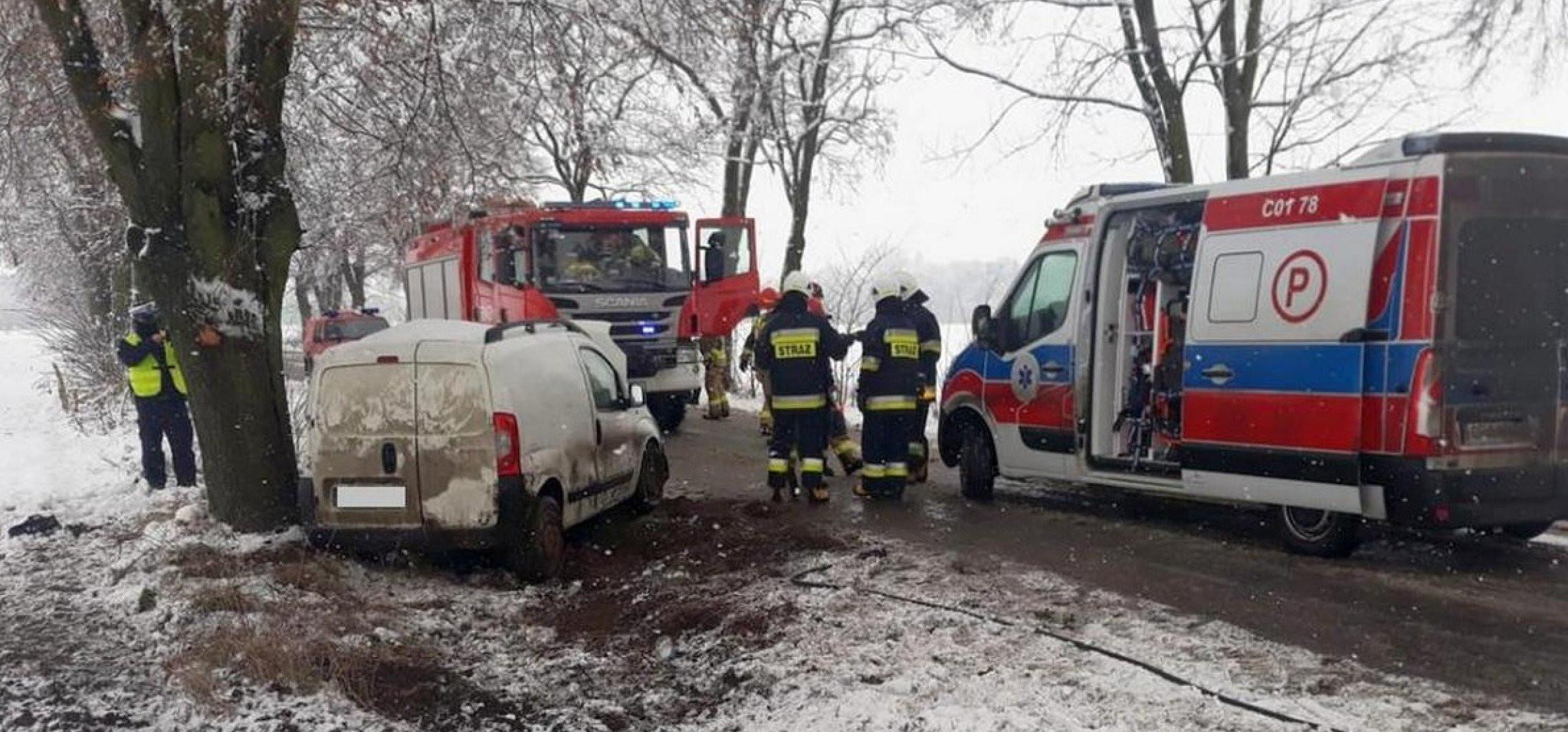Radziejów - Zimowa aura daje się we znaki kierowcom