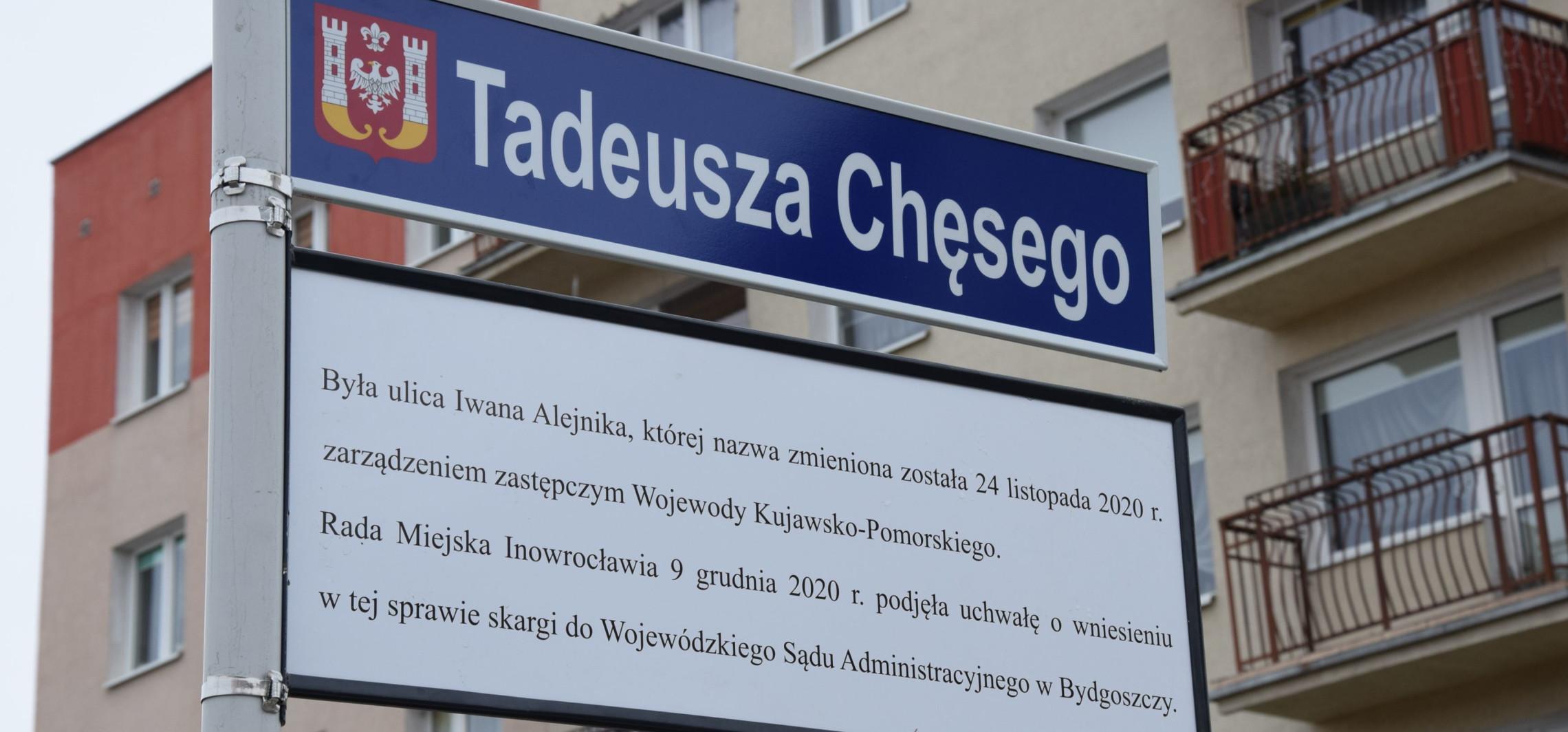 Inowrocław - Już nie Alejnika. Ratusz tłumaczy zmianę