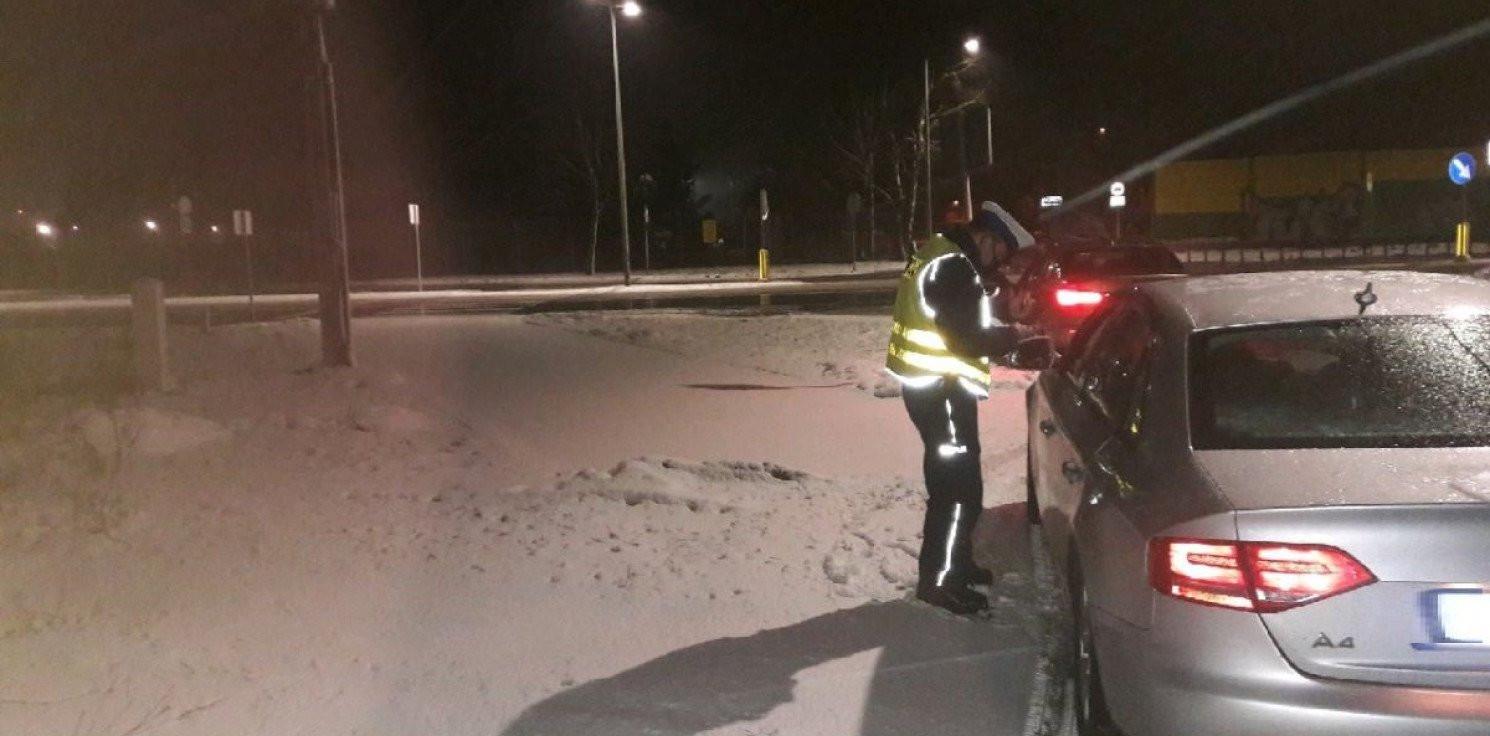 Inowrocław - Kolizje i działania policji po opadach śniegu