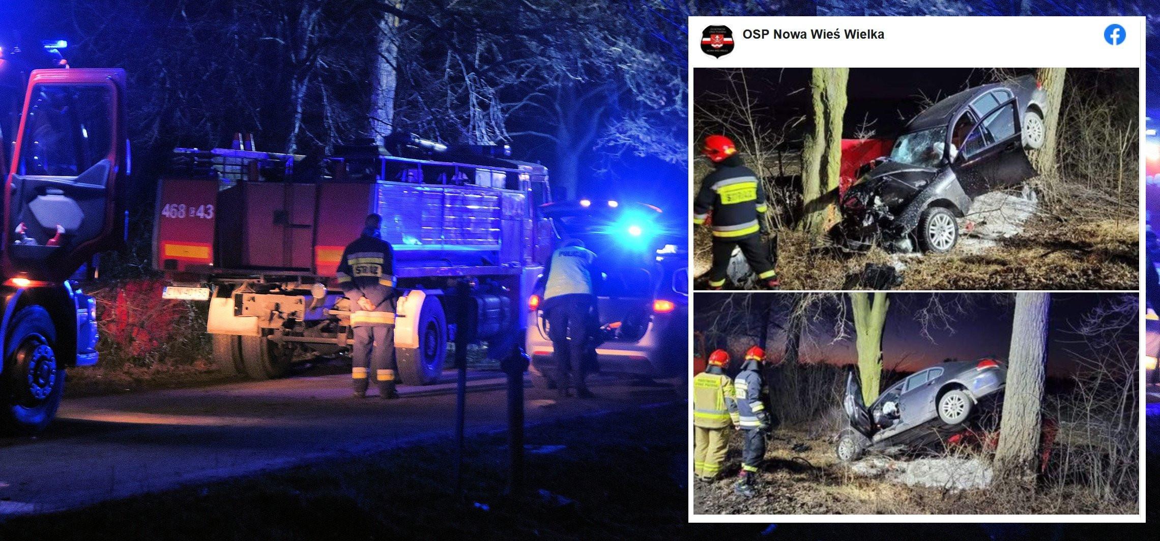 Rojewo - BMW uderzyło w drzewo. Nie żyje kierowca