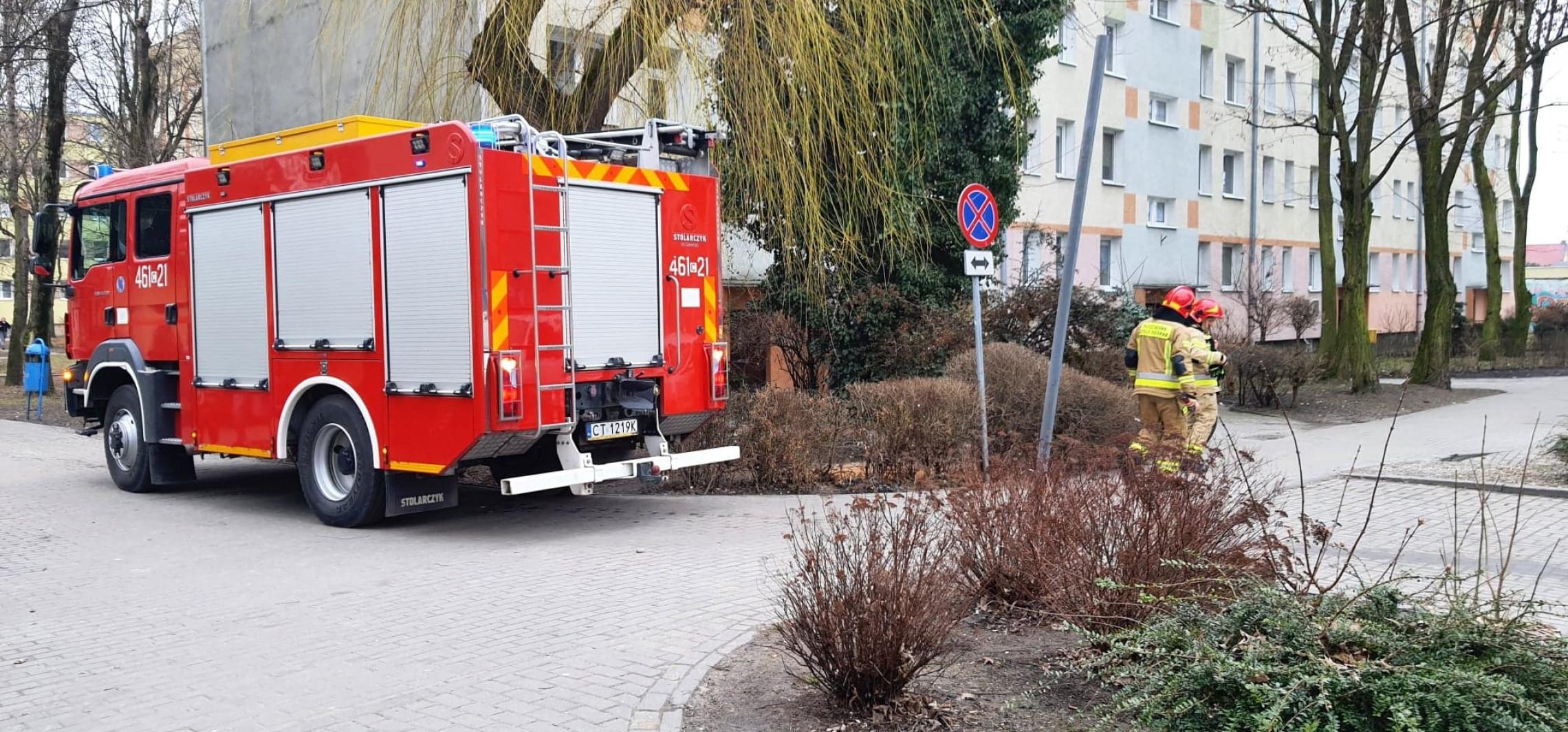 Inowrocław - Interwencja strażaków na Łokietka. Co się stało?