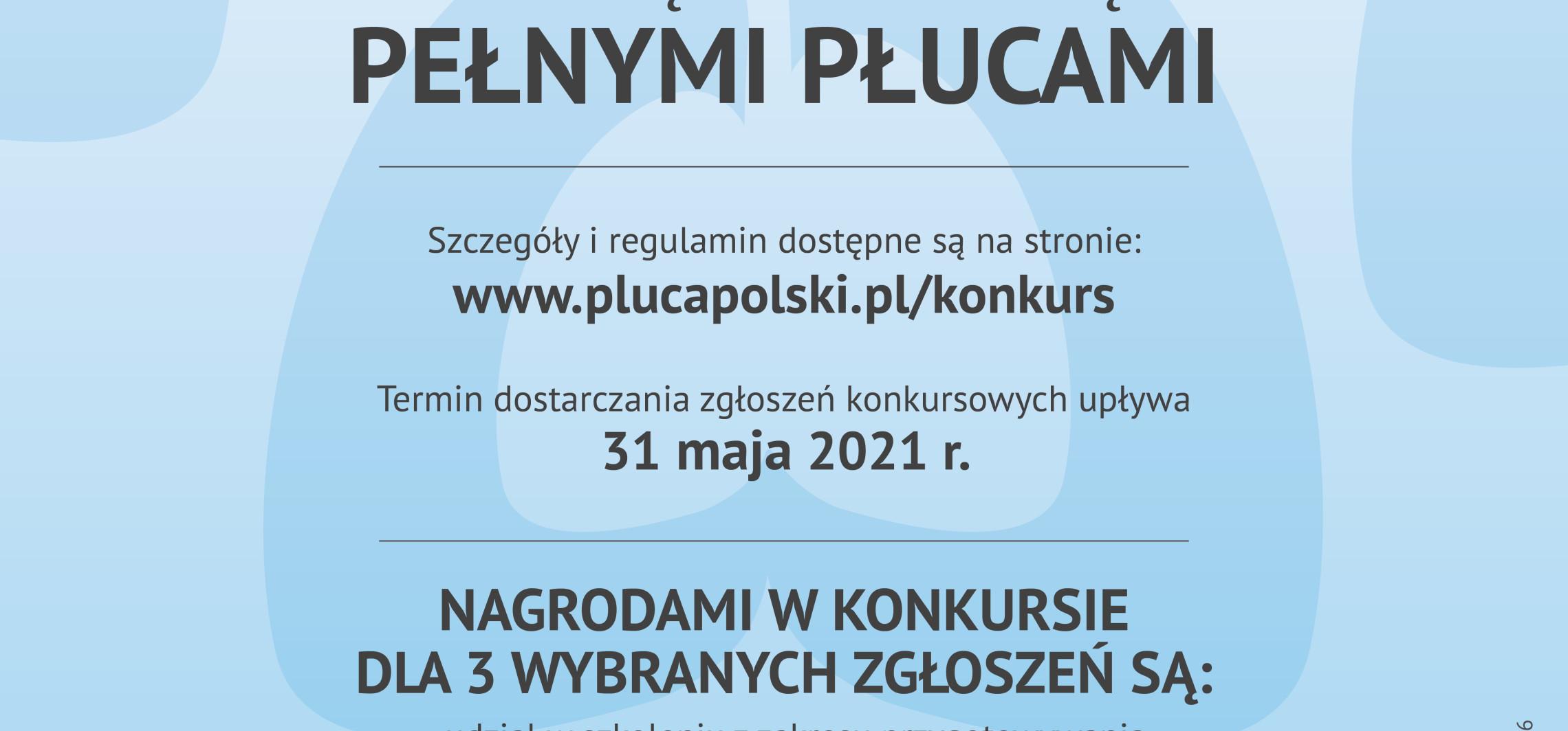 Kraj - Konkurs dla samorządów dbających o płuca swoich mieszkańców. Nagrodą m..in. możliwość wzięcia udziału w ciekawym szkoleniu