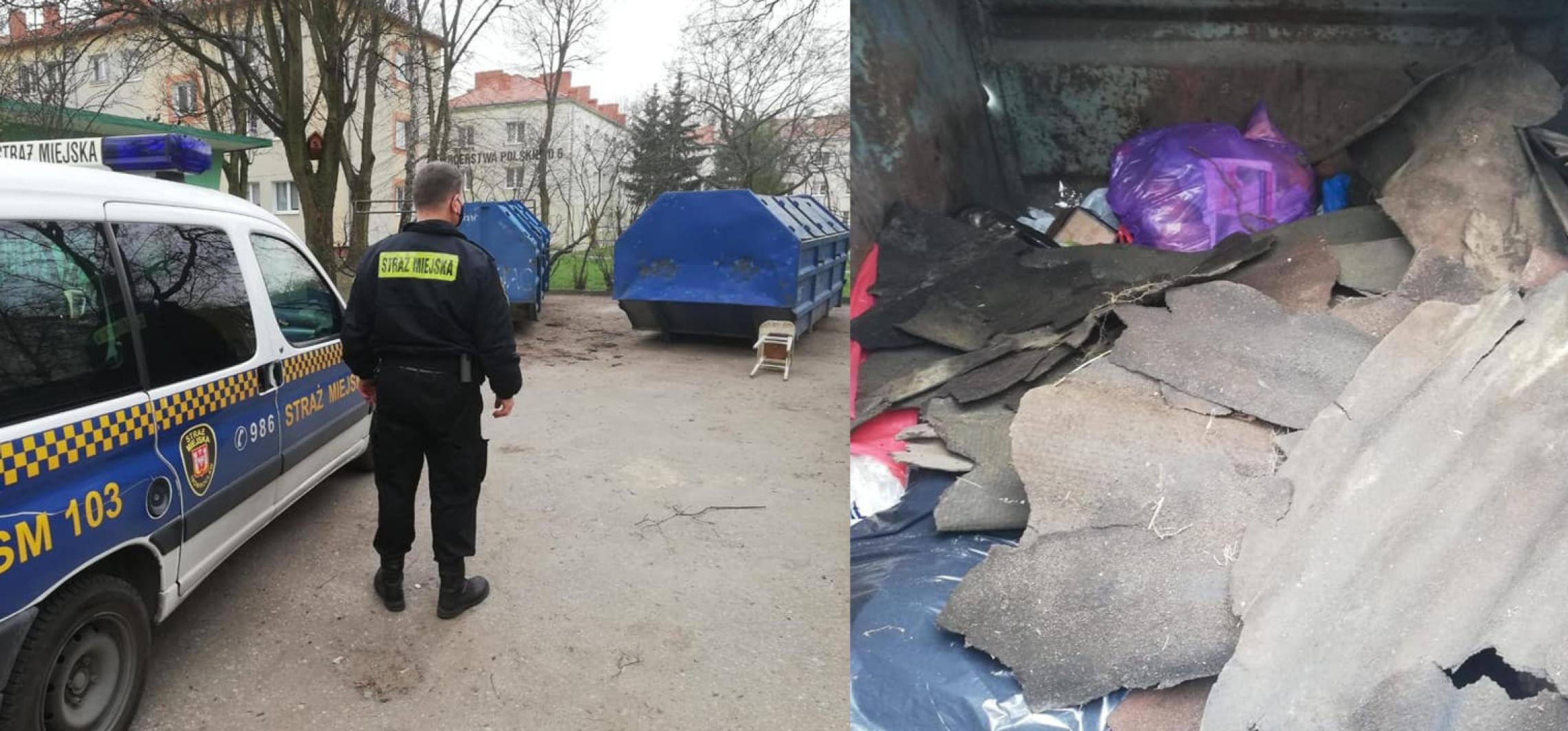 Inowrocław - Podrzucił odpady budowlane na osiedlowy śmietnik