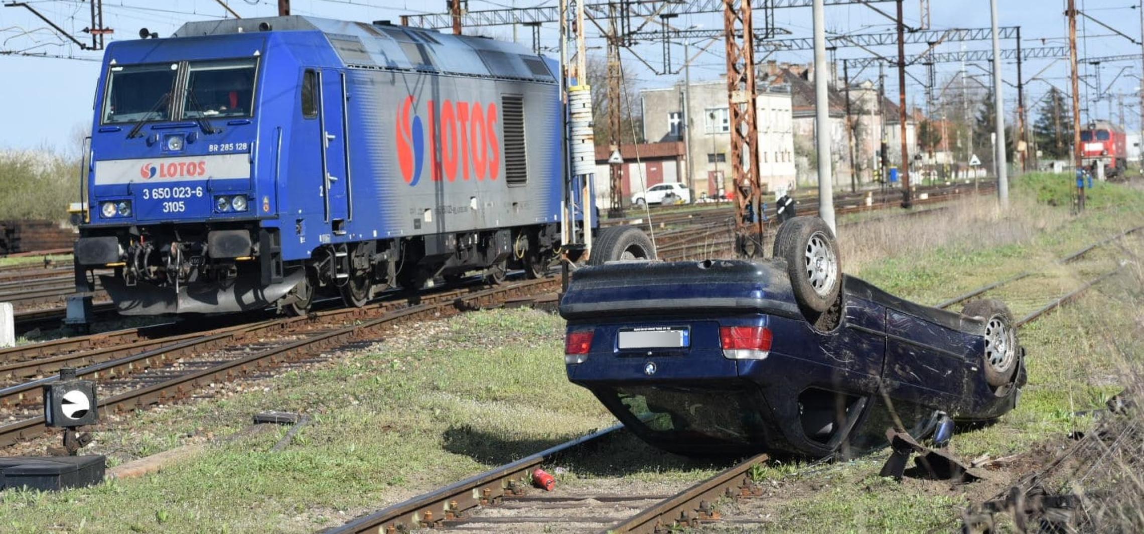 Inowrocław - BMW dachowało na torach