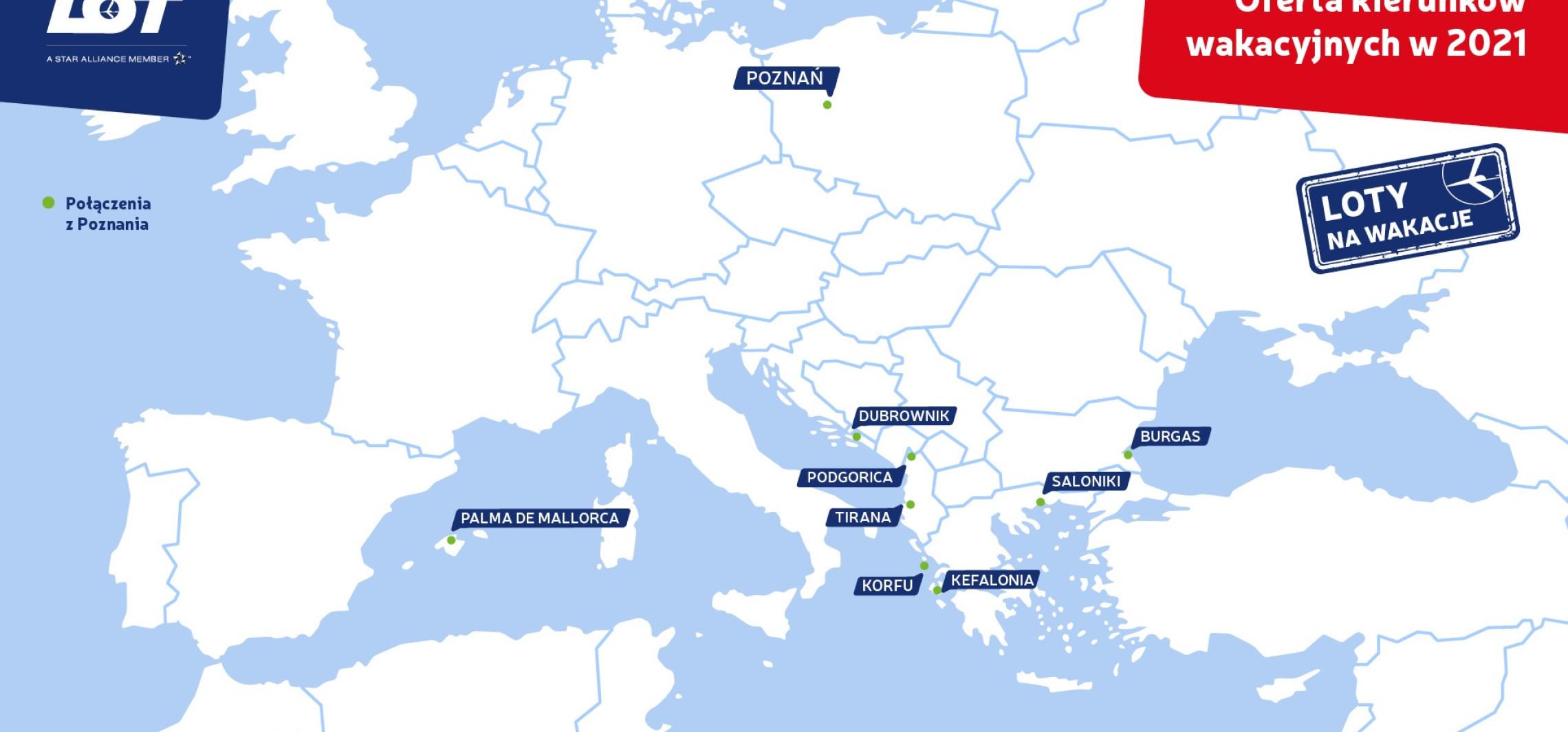 Kraj - Wakacyjne kierunki LOT-u bezpośrednio z Poznania już od końca maja