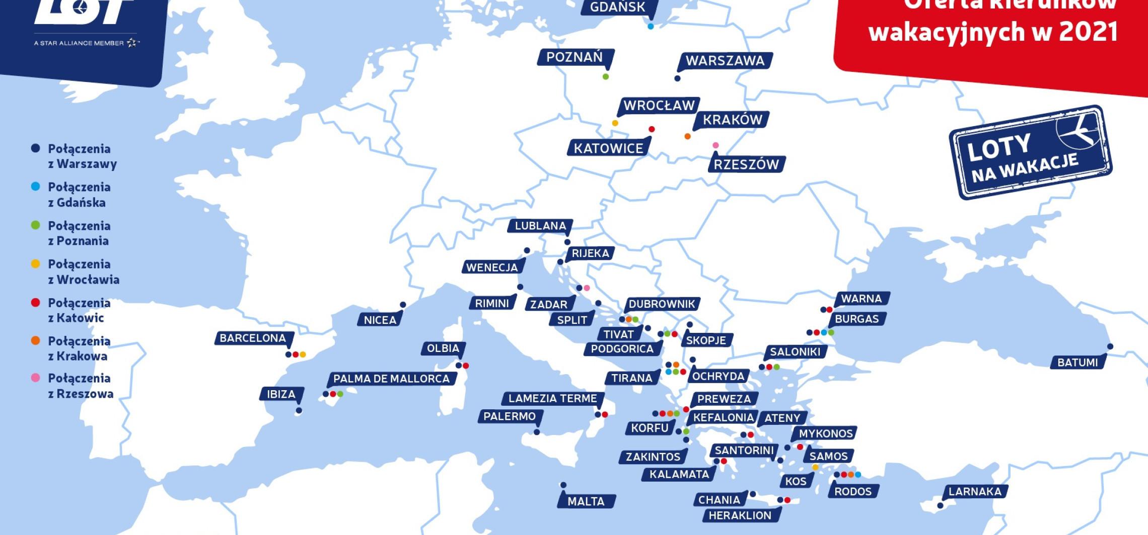 Kraj - Wakacyjne kierunki LOT-u bezpośrednio z Gdańska już od 18 czerwca