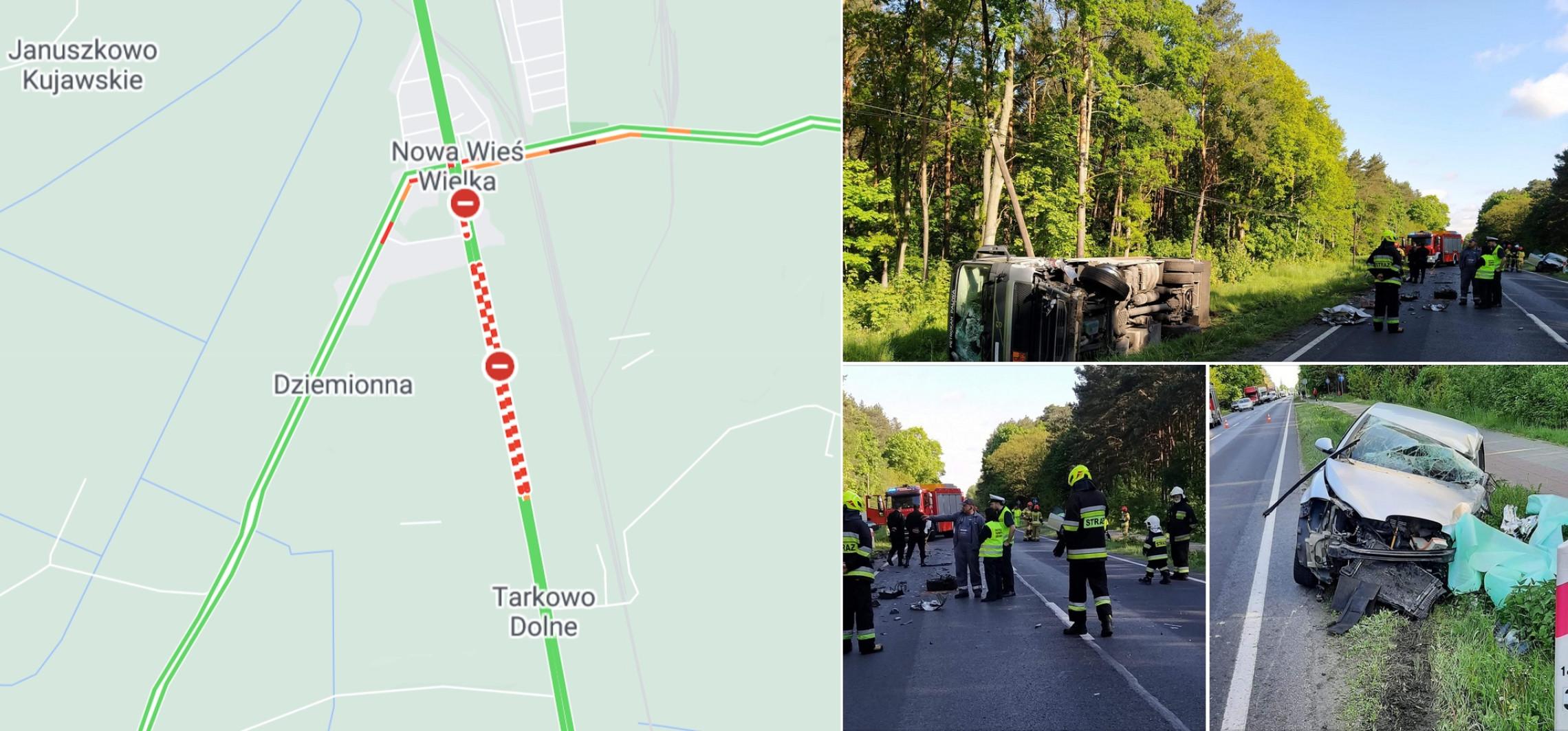 Region - Groźny wypadek na trasie do Bydgoszczy. Droga zablokowana