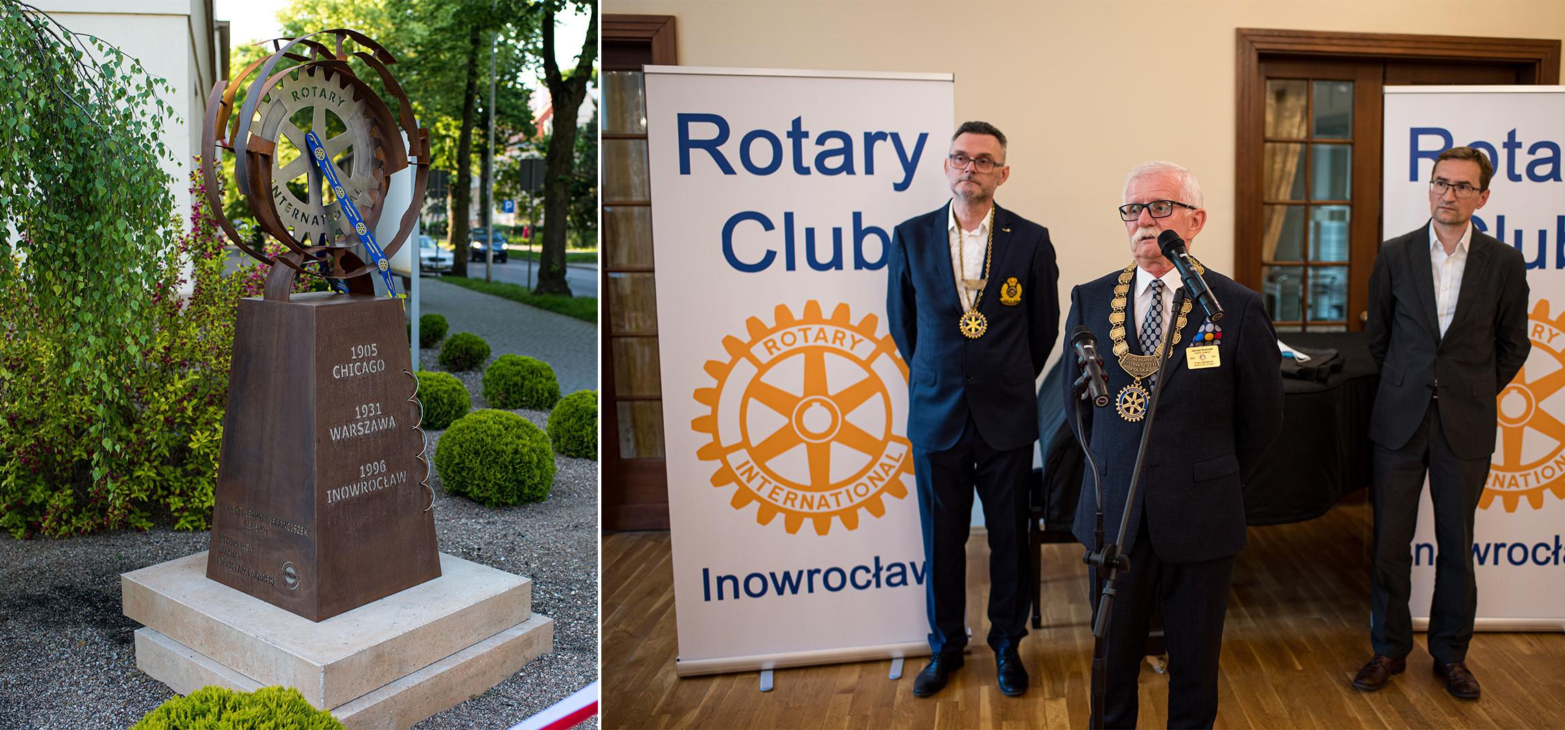 Inowrocław - Rotarianie świętują. Odsłonili instalację art.