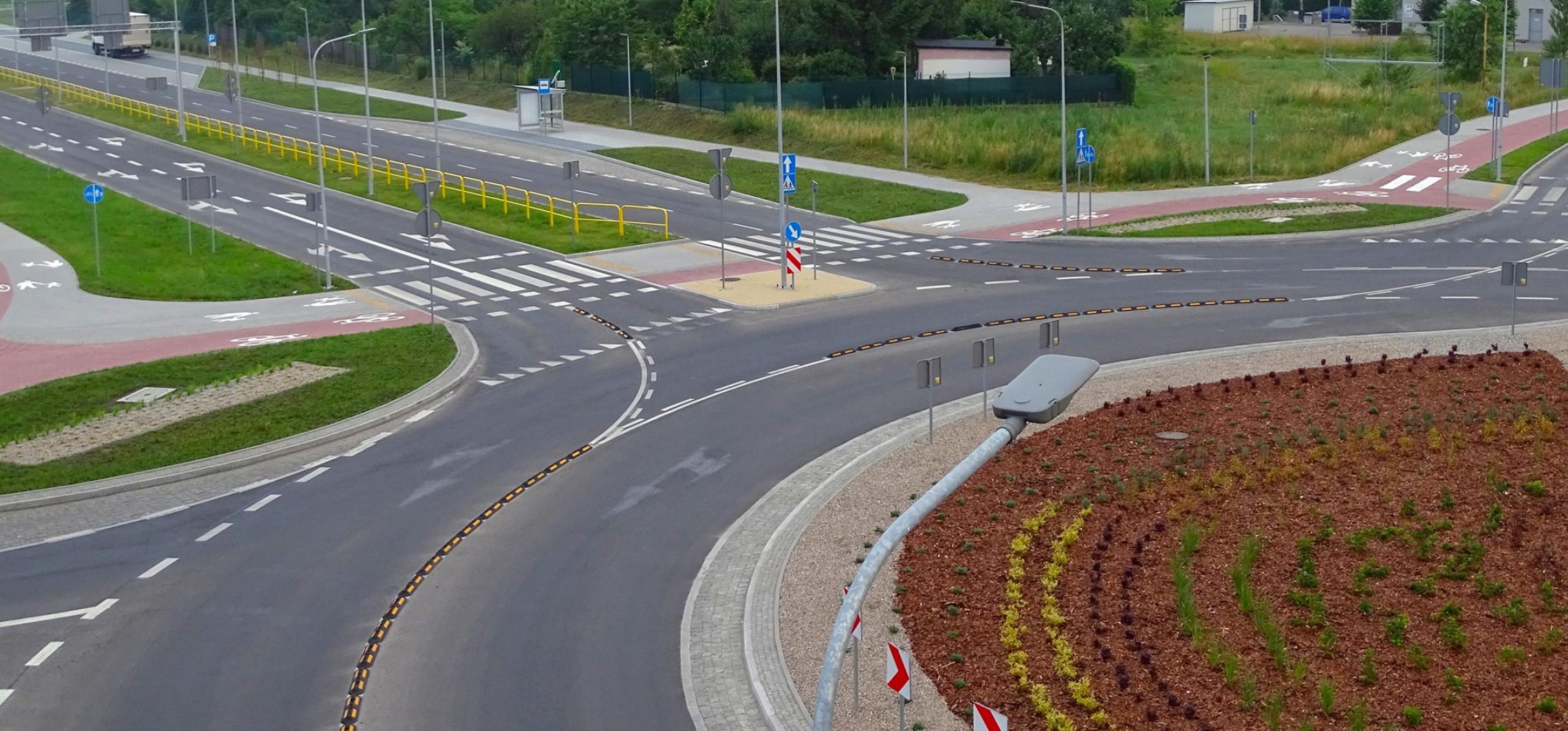 Inowrocław - Tak rondo turbinowe wygląda teraz z góry