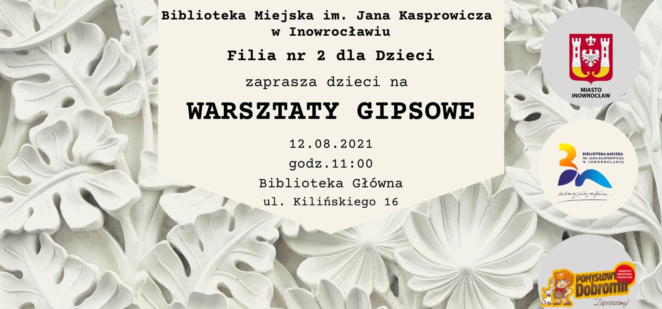 Inowrocław - Gipsowa zabawa w bibliotece
