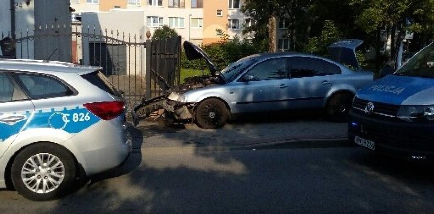 Inowrocław - Wjechał w ogrodzenie. Zażywał narkotyki?