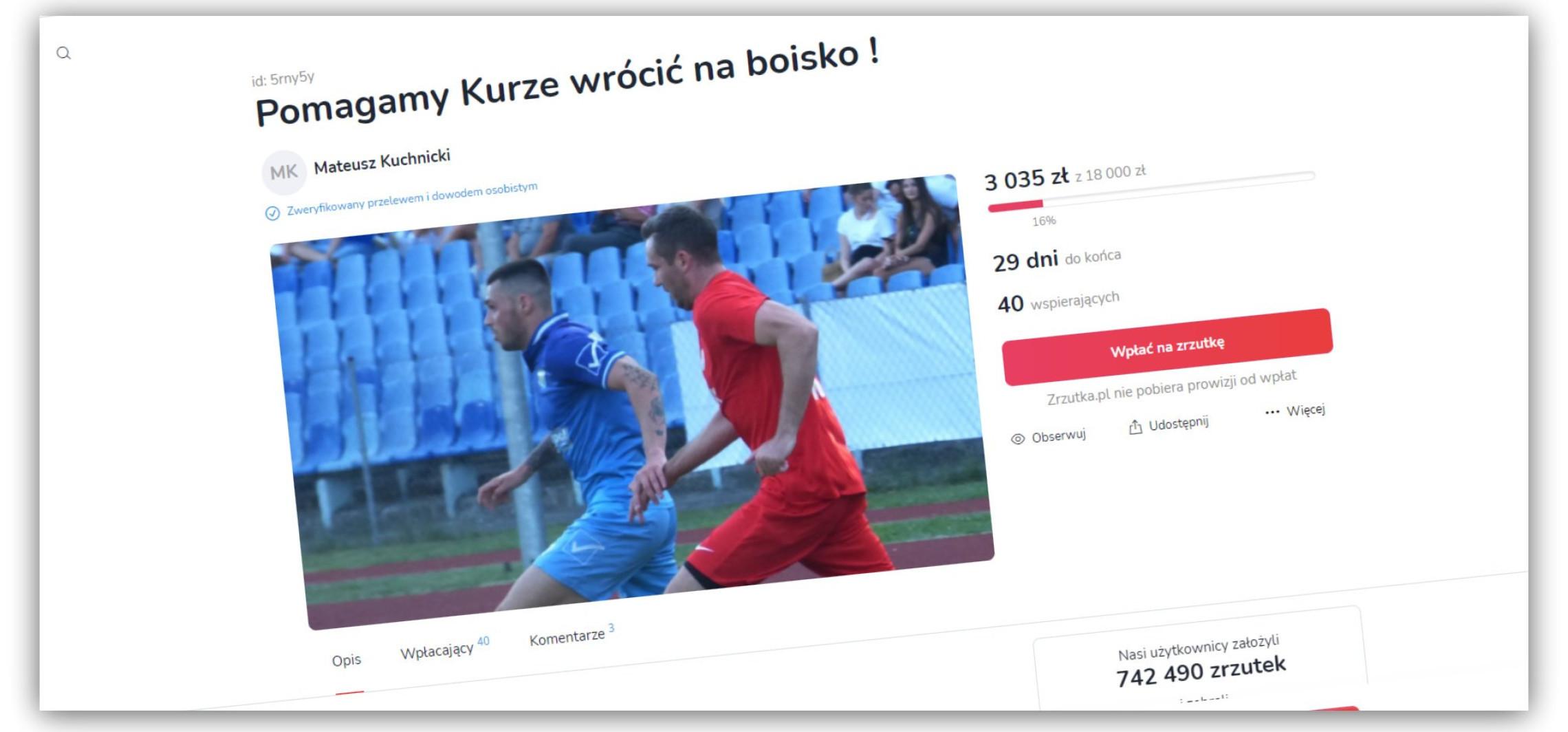 Inowrocław - Kontuzja piłkarza z Inowrocławia. Ruszyła zbiórka