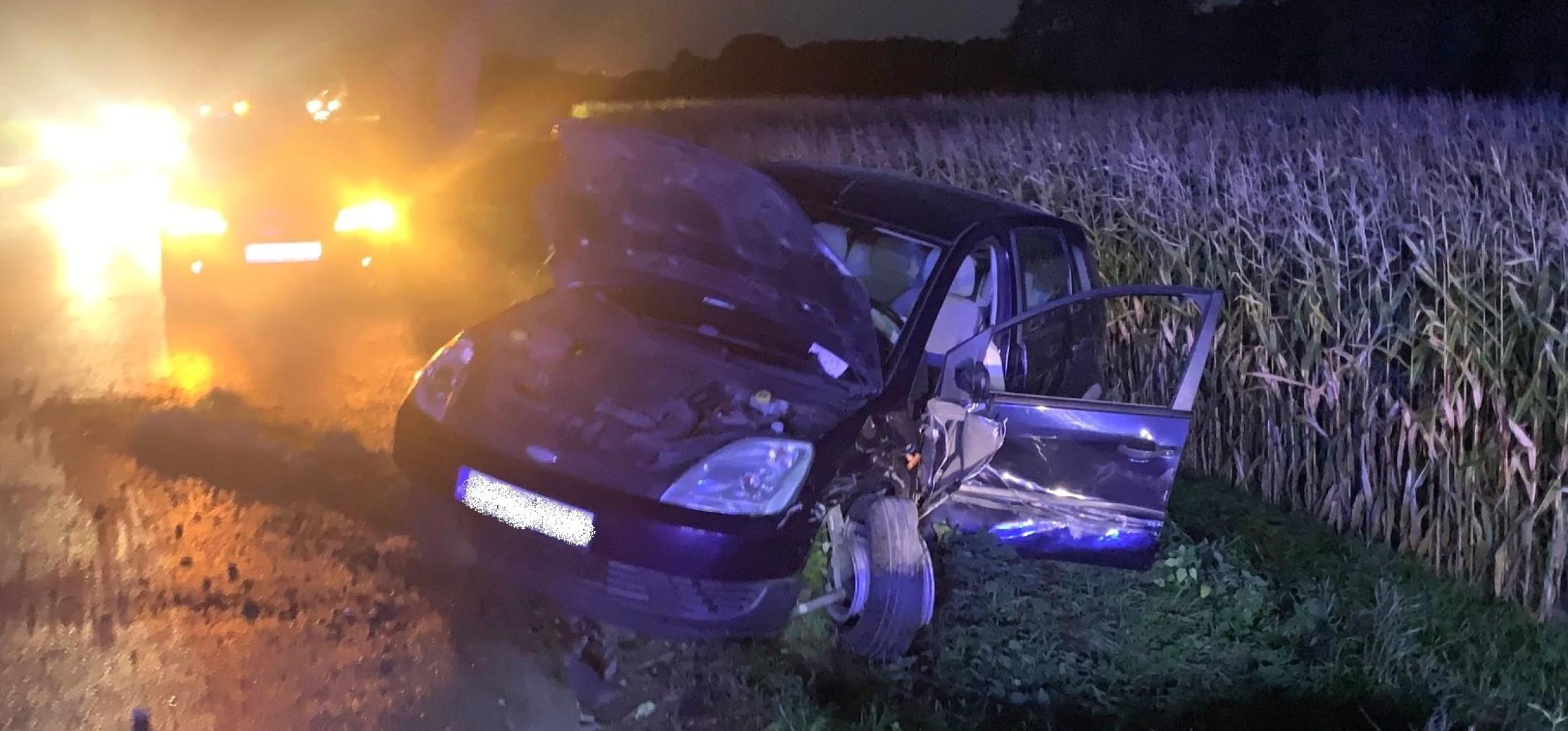 Region - Wypadek dwóch aut. Dwa śmigłowce w akcji