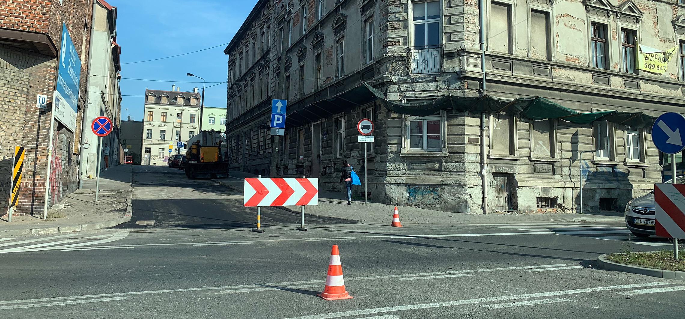 Inowrocław - Utrudnienia na wjeździe do centrum