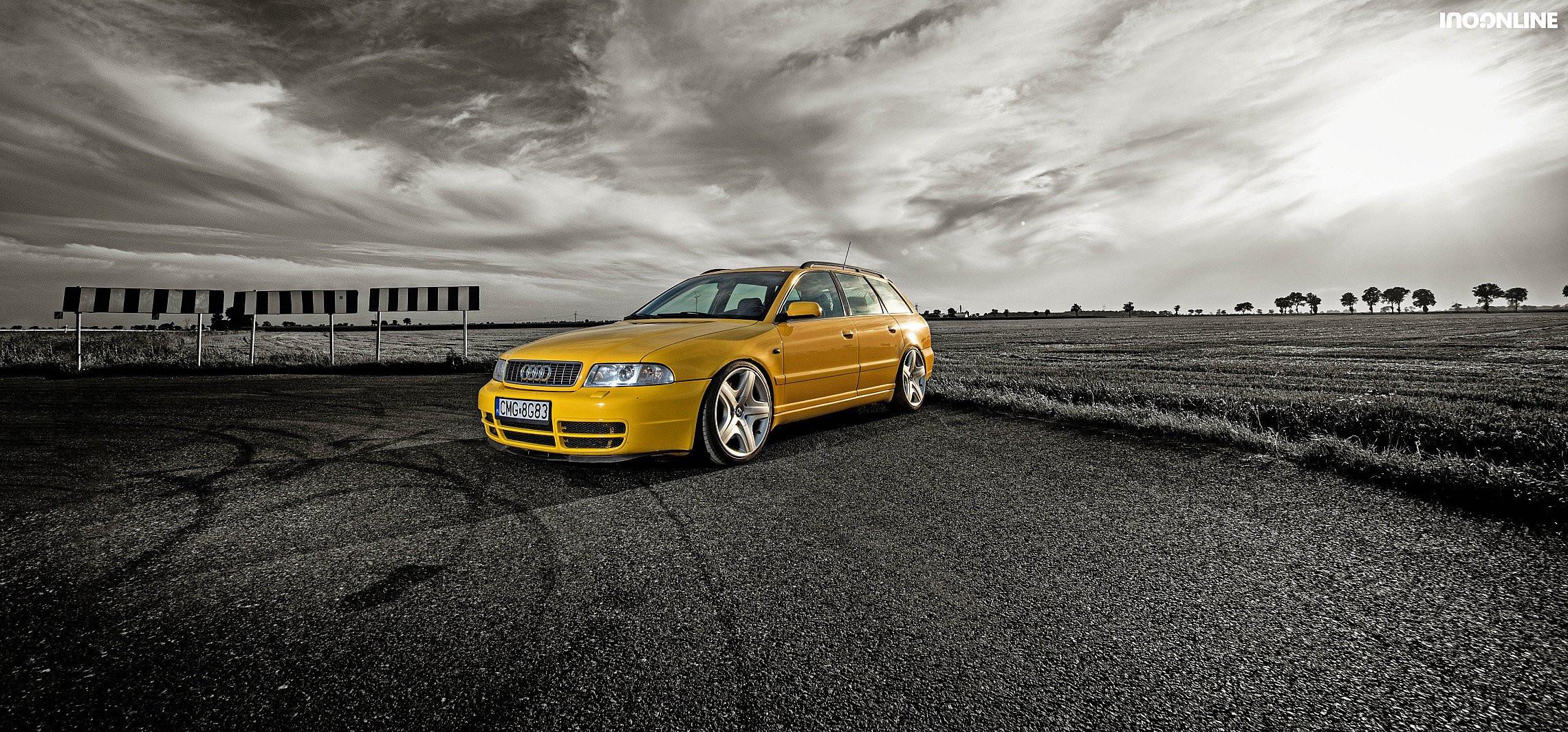 Audi prawie RS4 i banan na twarzy