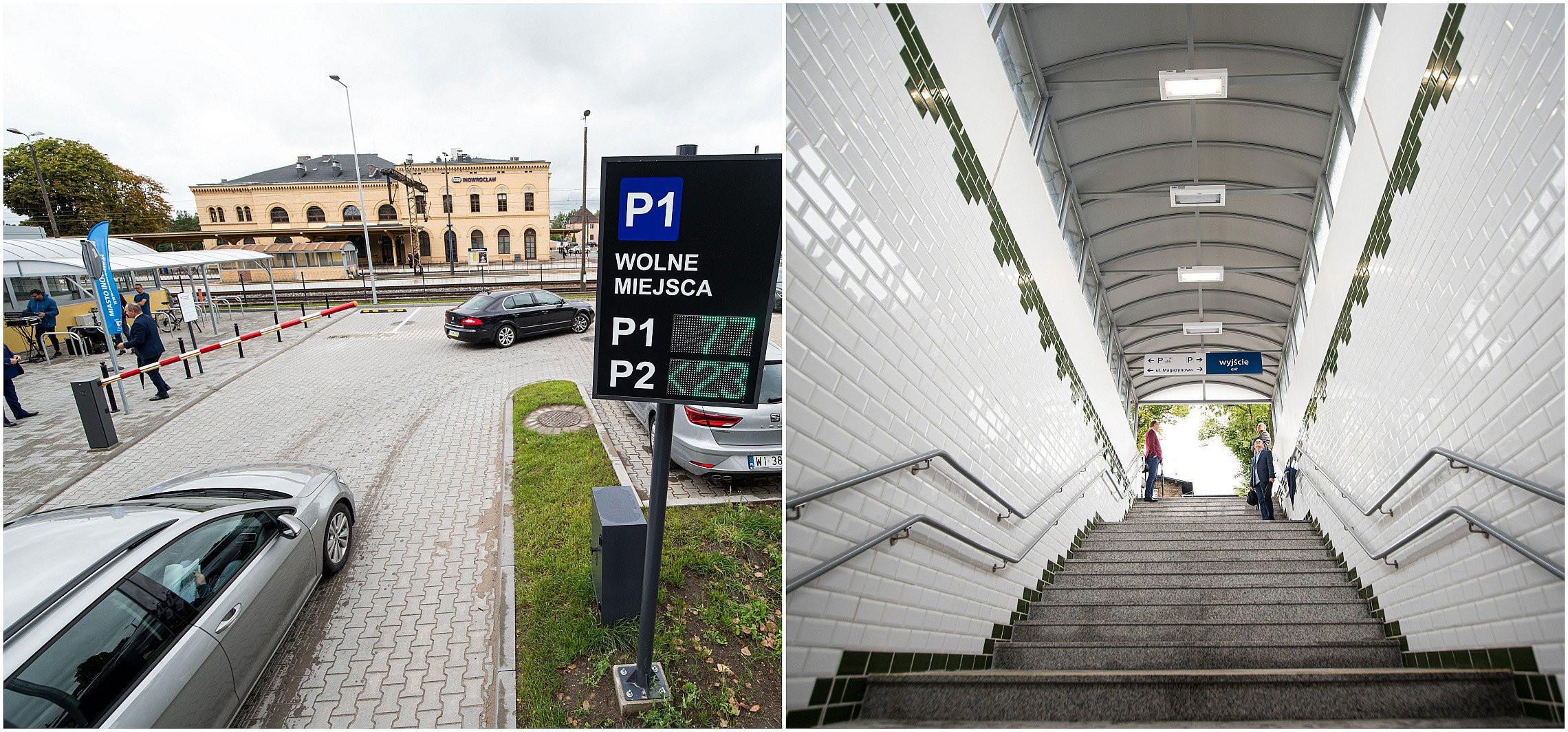 Inowrocław - Tunel i parking przy Magazynowej otwarte