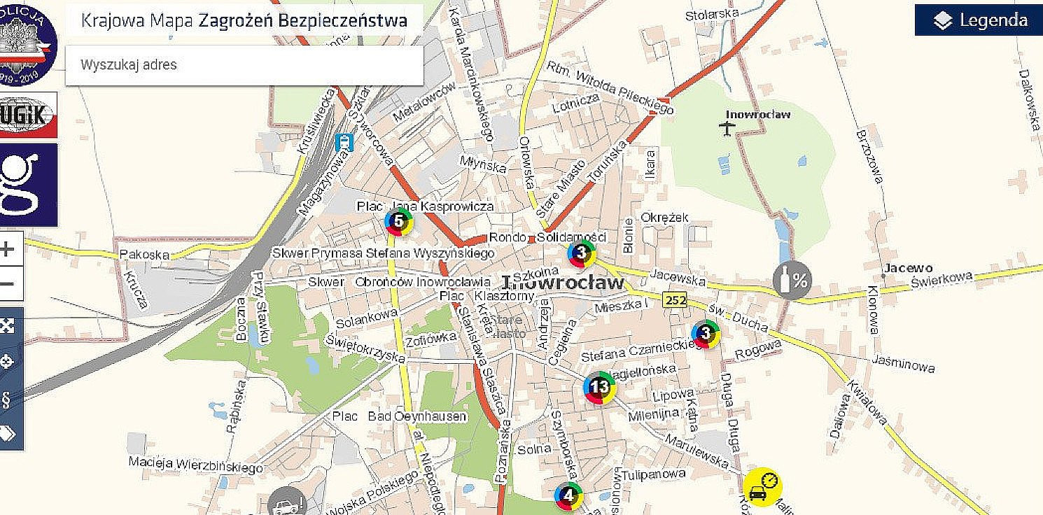 Inowrocław - Prawie pięć tysięcy zgłoszeń na mapę zagrożeń