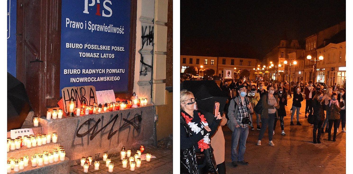 Inowrocław - Protest w Inowrocławiu przeciwko zakazowi aborcji