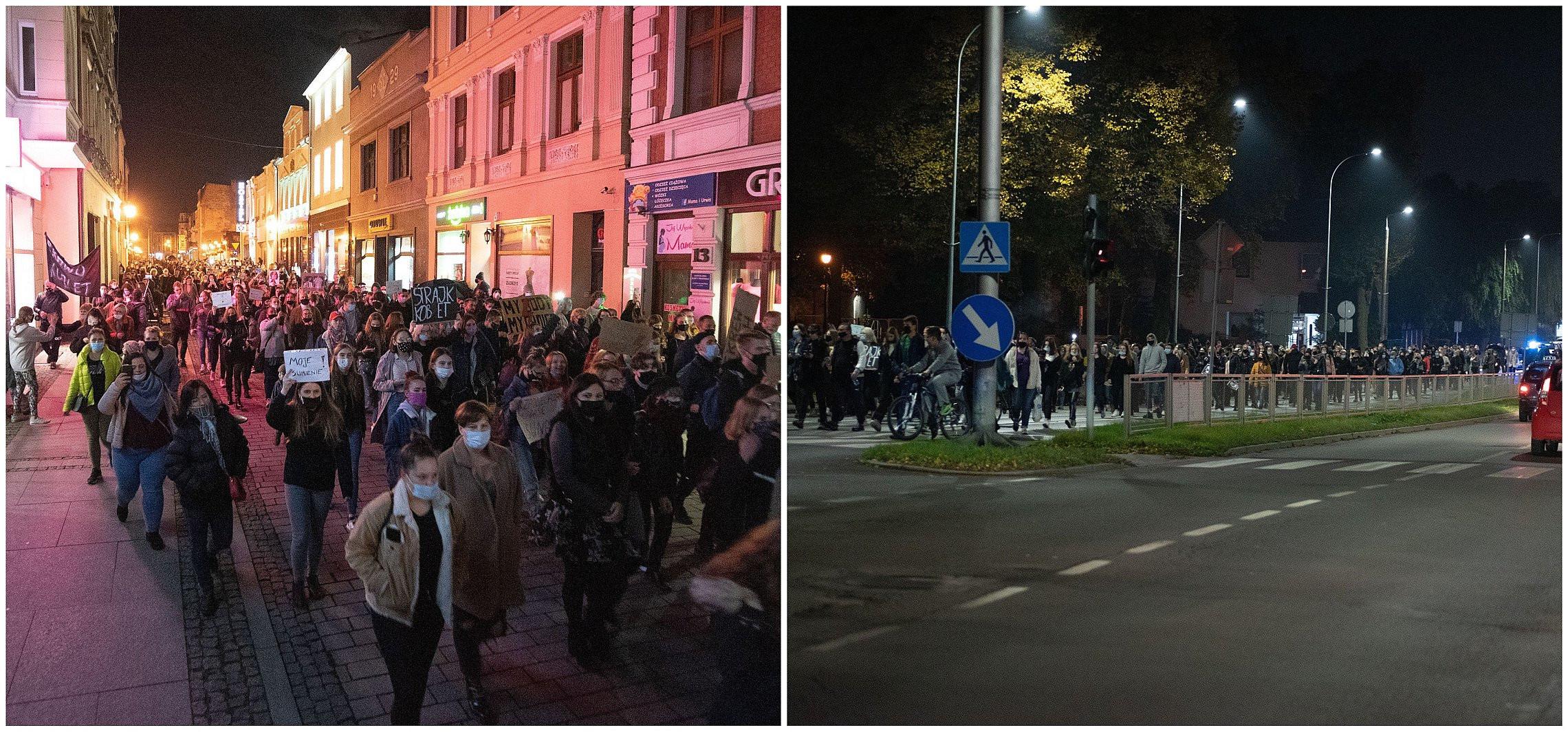 Inowrocław - Setki osób wyszły na ulice Inowrocławia