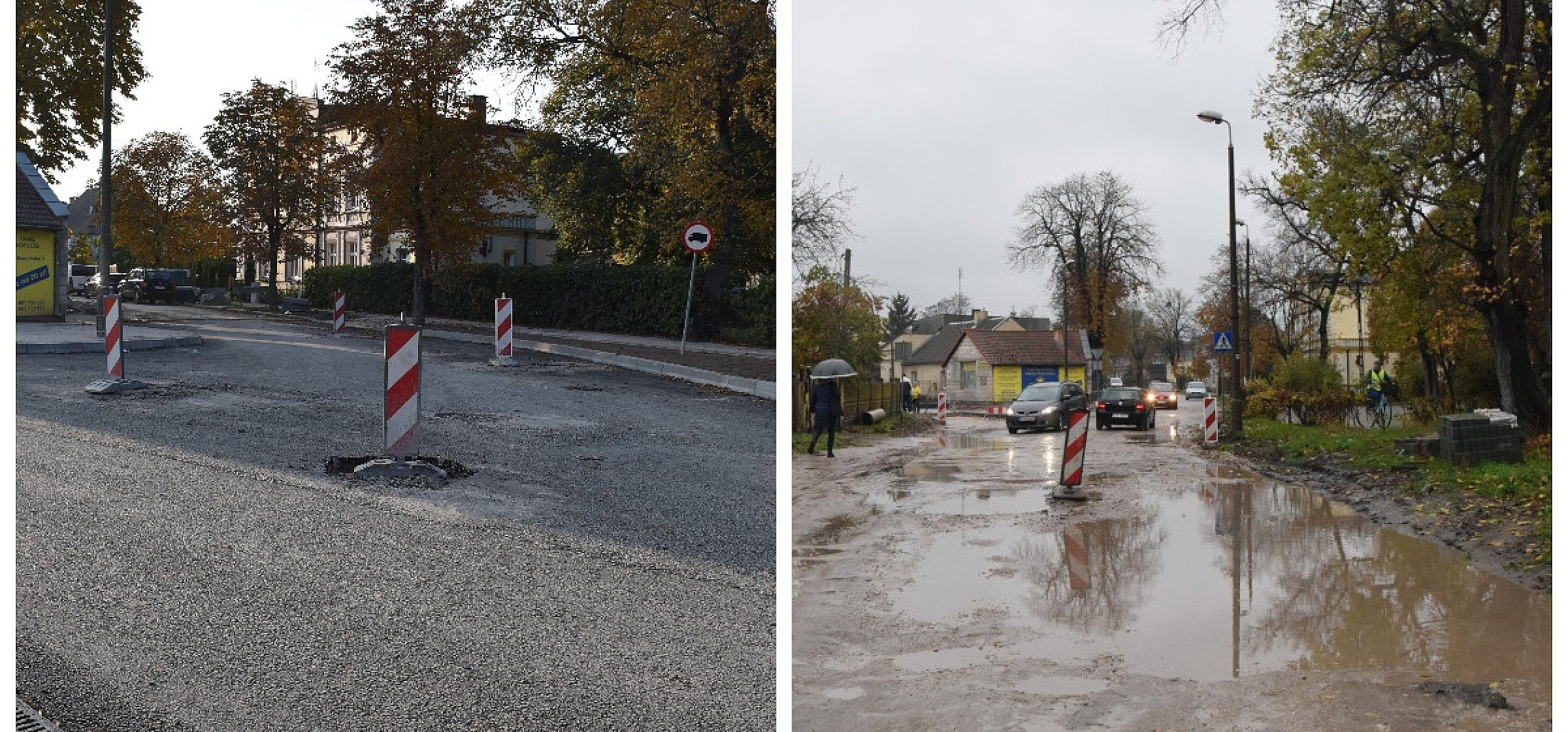 Pakość - Widać już postęp prac drogowych w Pakości