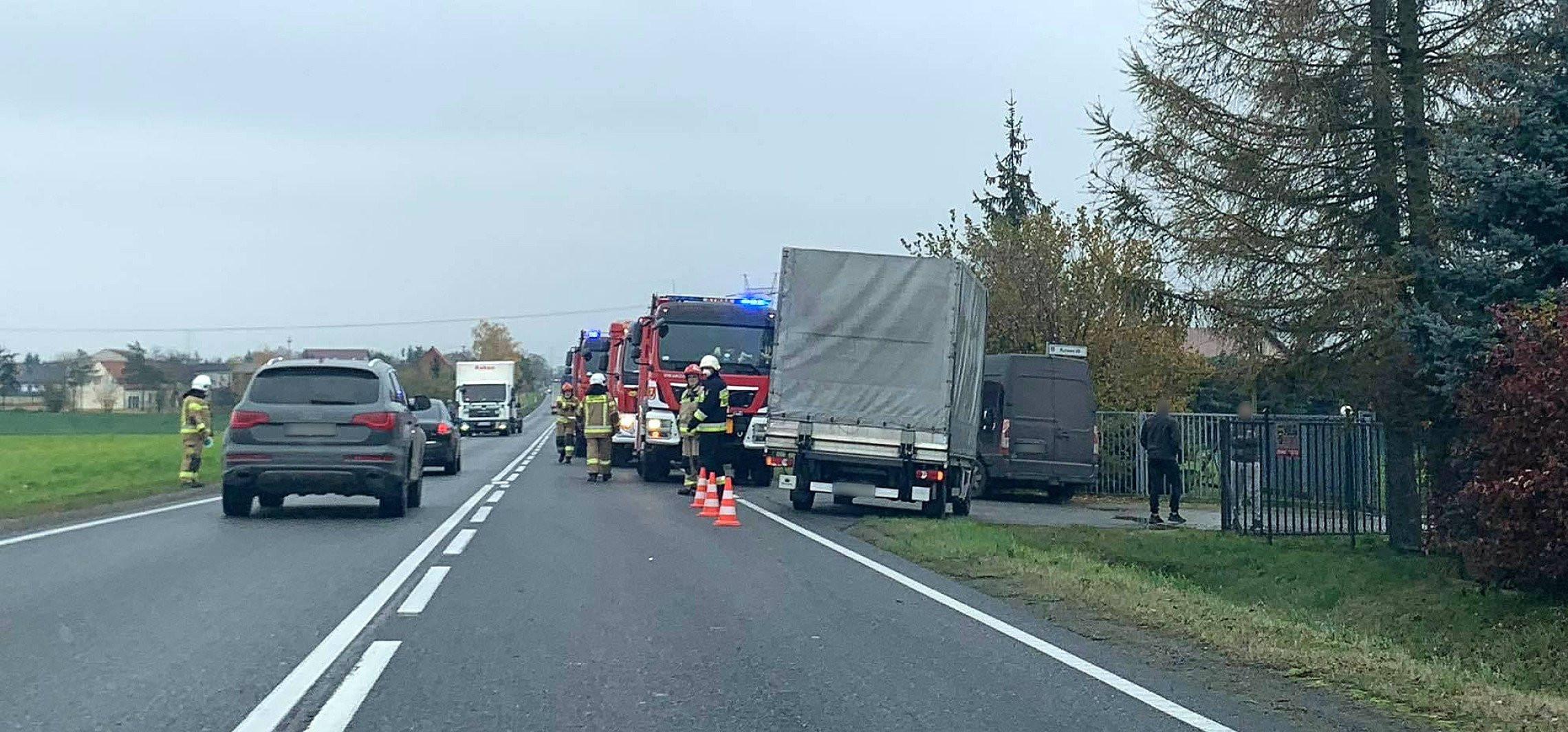 Zderzenie dwóch aut koło Złotnik Kujawskich