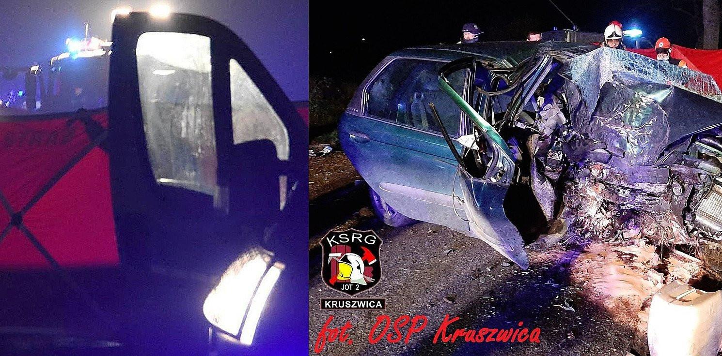 Kruszwica - Auto uderzyło w drzewo. Kierowca nie żyje