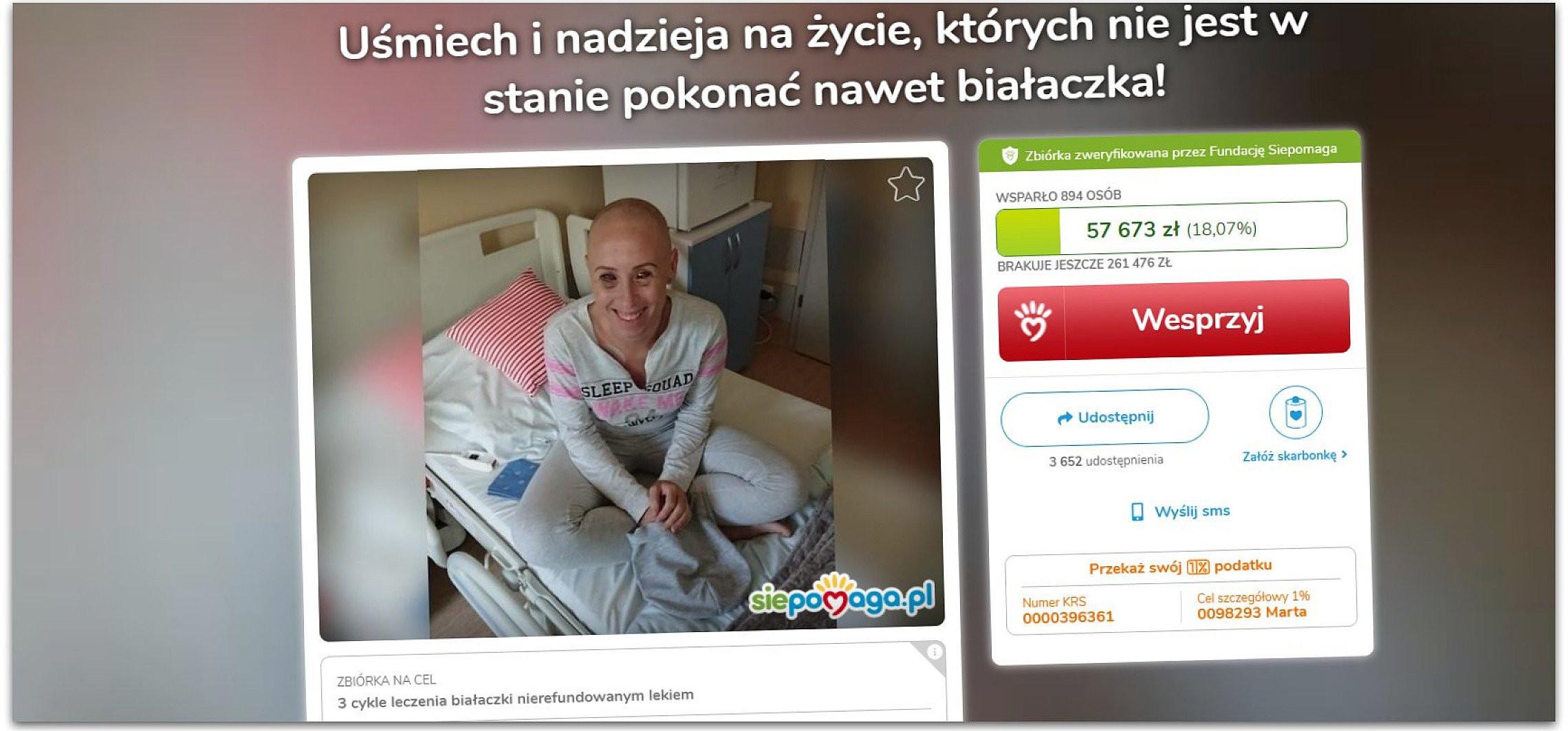 Inowrocław - Marta potrzebuje pomocy. Ruszyła zbiórka