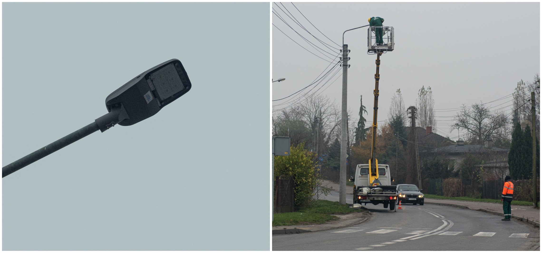 Trwa montaż LED-owych opraw na ulicach